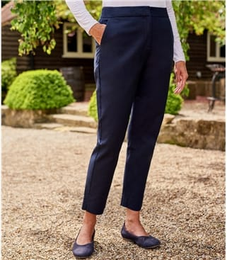 Classic Stretch Straight Leg Pant 12 Navy