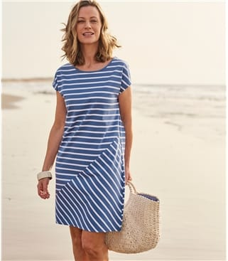 Womens Stripe Tshirt Dress