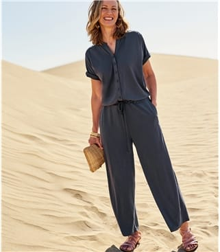 Womens Button Through Jumpsuit