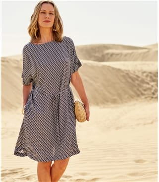 Womens Tile Print Dress