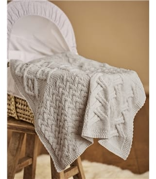 Supersoft Merino Cot Blanket 1size Oatmeal