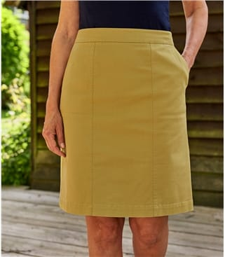 Womens Cotton Chino Skirt