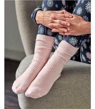 Chaussettes côtelées - Femme - Cachemire & Mérinos