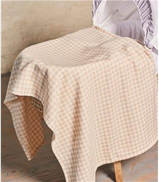 Cotton Nursery Blanket 1size Rose Pink