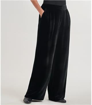 Широкие брюки из бархата