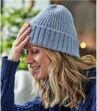 Womens Ribbed Hat