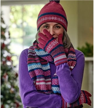 Womens Fairisle Scarf