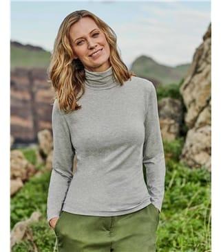 Womens Slim Turtle Neck Top