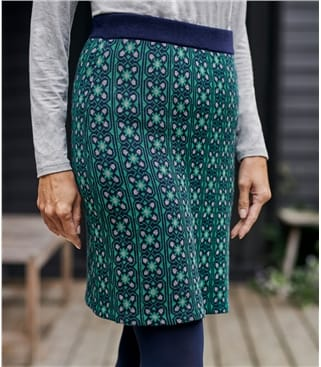 Womens Jacquard Knit Skirt