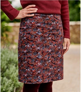 Womens Cut Cord Skirt