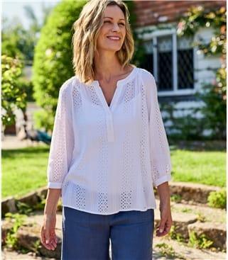 Женская ажурная блузка