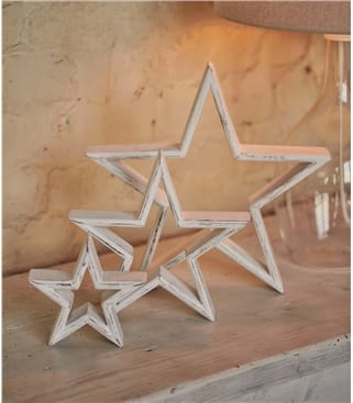 Set Of 3 Large Stars