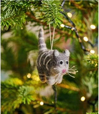 Kitty Cat Christmas Decoration