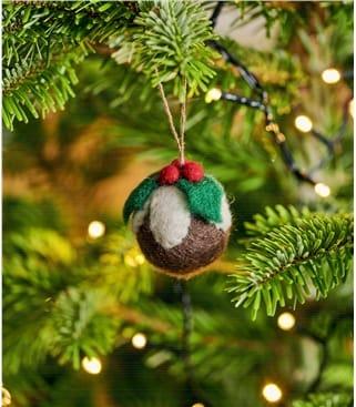 Déco Pudding de Noël - Maison - Pure Laine