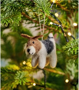 Winston The Dog Christmas Decoration