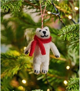 Paddy Polar Bear Christmas Decoration