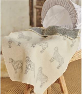 Couverture pour bébé motif mouton - Maison - Laine mélangée