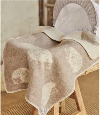Couverture pour bébé motif hérisson - Maison - Laine mélangée