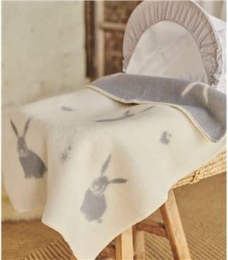Couverture pour bébé motif lapin - Maison - Laine mélangée