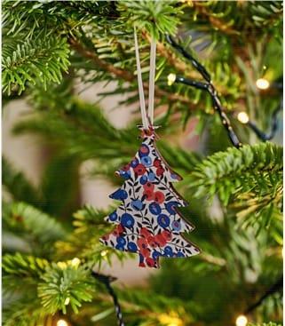 Christmas Tree Liberty Print Decoration