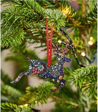 Leaping Liberty Print Stag Decoration