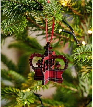 3D Crown Tartan Decoration