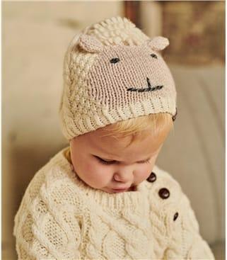 Babymütze im Schafdesign