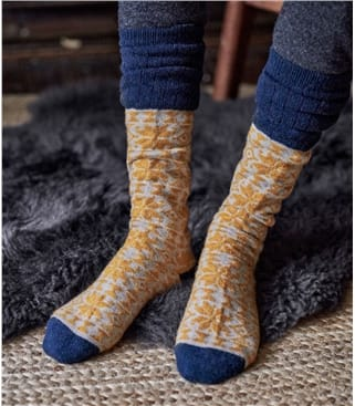 Womens Fairisle Lambswool Sock