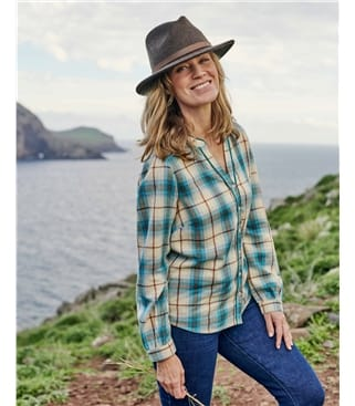 Karierte Bluse für Damen