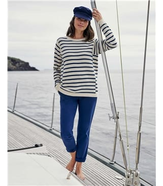 Square Armhole Breton Stripe Sweater