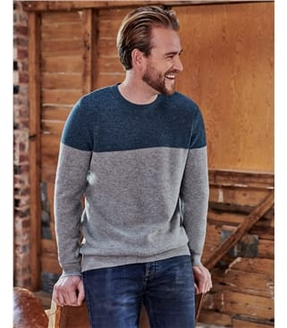 Pullover mit Rundhalsausschnitt für Herren