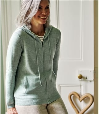 Womens Cashmere And Merino Luxe Lounge Hoodie