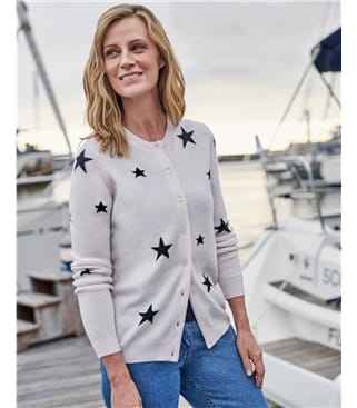 Star Crew Neck Cardigan