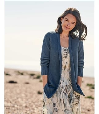 Organic Cotton Edge To Edge Cardigan