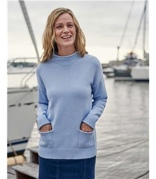 Cotton Rib Pocket Detail Jumper