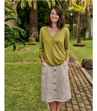 Chemise à détail dentelle - Femme - Jersey