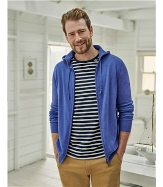 Organic Cotton Cashmere Mens Hoodie