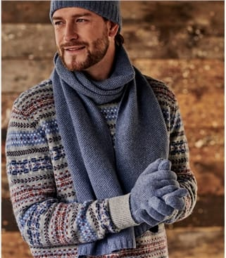 Mens Basic Lambswool Scarf