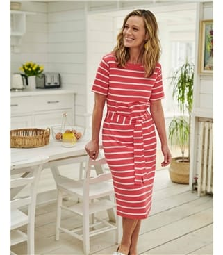 Organic Cotton Tie Waist Jersey Dress