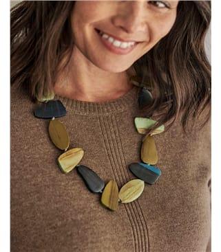 Irregular Wooden Necklace