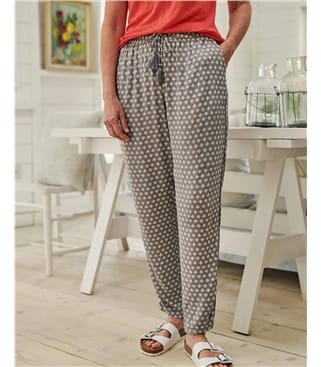 Printed Tapered Leg Trouser