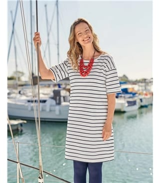 Robe T-shirt au dos boutonné - Femme - Jersey