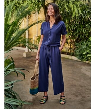 Button Through Jumpsuit