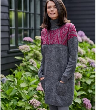 Patterned Yoke Pocket Tunic