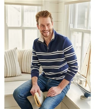 Mens Organic Cotton Half Zip Sweater