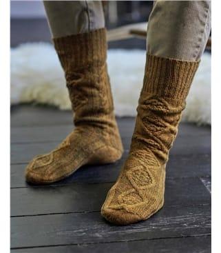 Chaussettes torsadées - Homme - Laine d'agneau