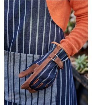 Burgon & Ball Sophie Conran Ticking Stripe Cotton Garden Gloves