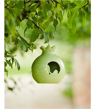Burgon & Ball Sophie Conran Ceramic Bird Feeder Pomegranate