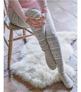 Leggings motif Jacquard - Femme - Laine mélangée