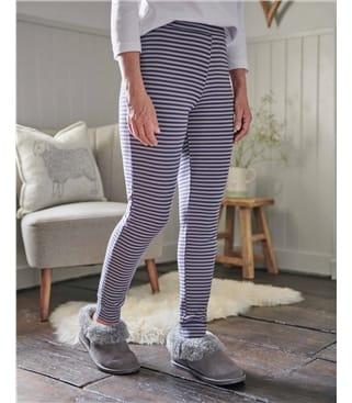 Cosy Print Bamboo Cuffed Leggings